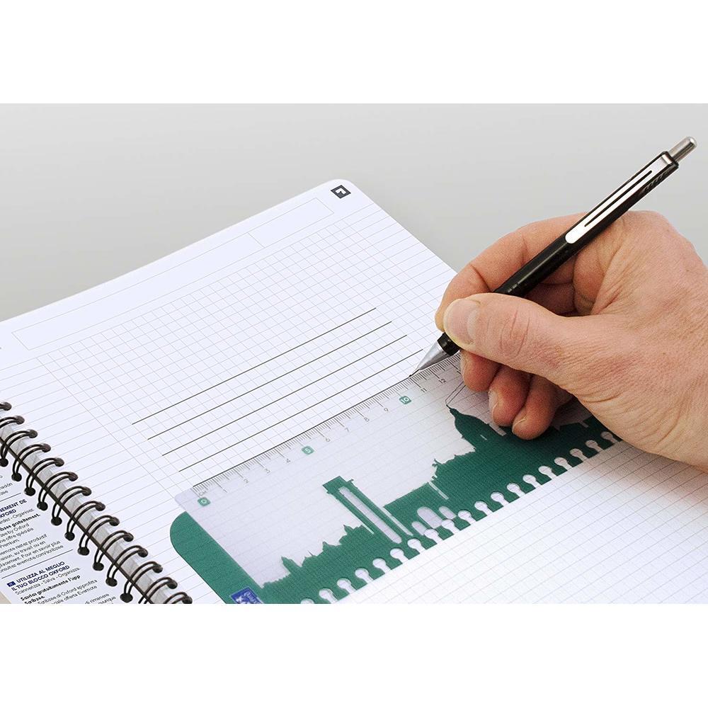 Caiet cu spirala A5 OXFORD Office Essentials, 90 file - 90g/mp, Scribzee, coperta carton