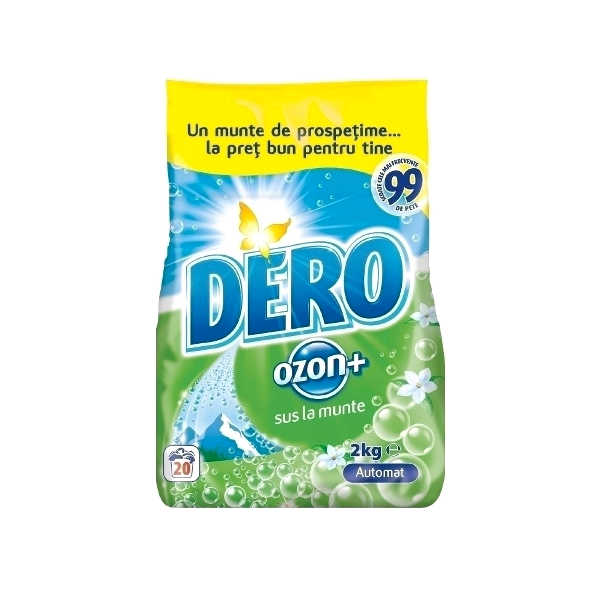 Detergent automat pudra, pentru rufe,2 kg, Dero Ozon
