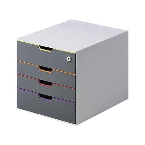 Organizator documente, Durable Varicolor, cu 4 sertare