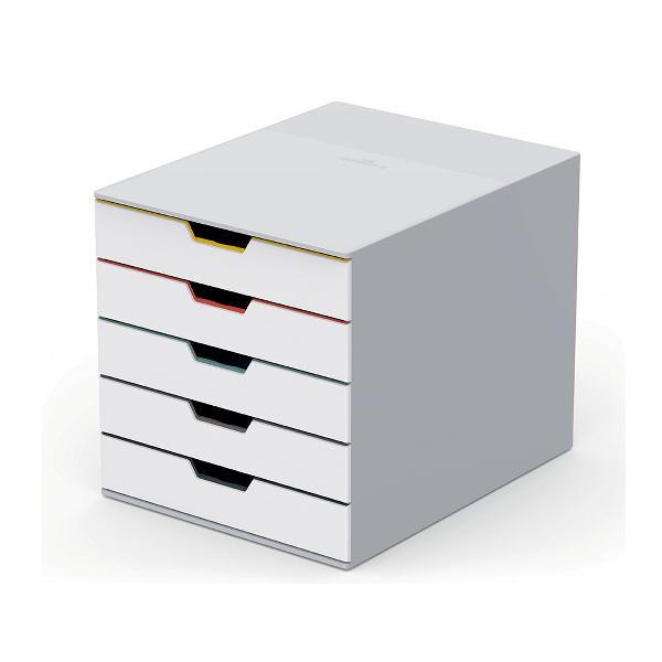 Organizator cu 5 sertare Durable Varicolor MIX 280x292x356mm, rezistent, durabil