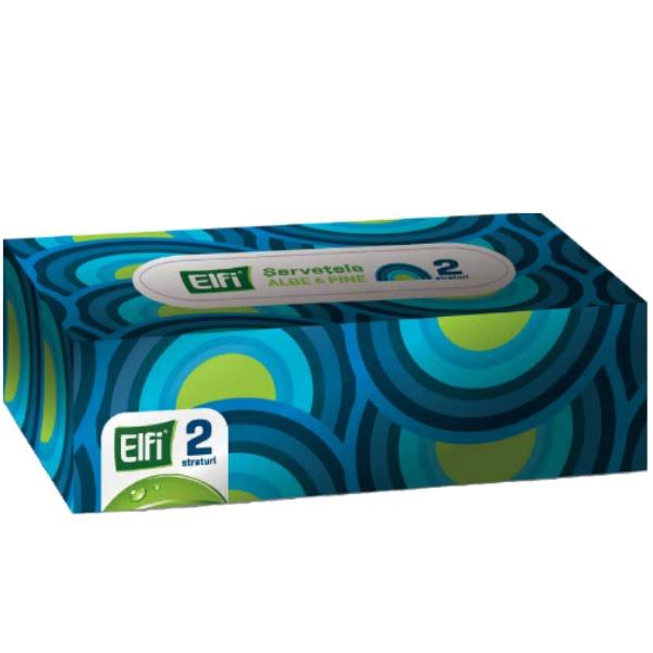 Servetele faciale, 2 straturi, 150 buc/cutie, Elfi