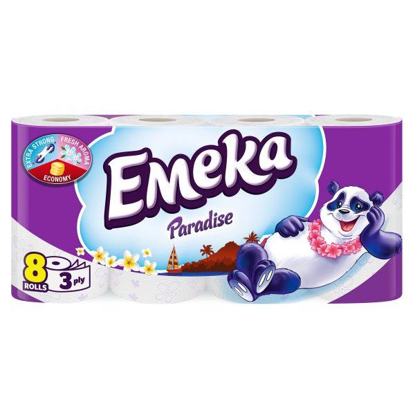 Hartie igienica Emeka 3 straturi, 8 role/set