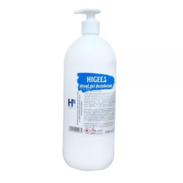 Gel dezinfectant pentru maini Higeea, alcool 70%, efect bactericid si virucid, 1000 ml