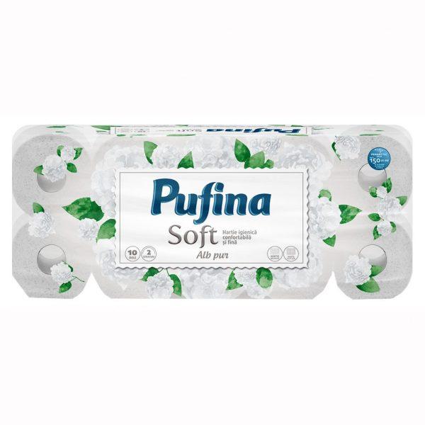 Hartie igienica Pufina, 2 straturi, 10 role/set
