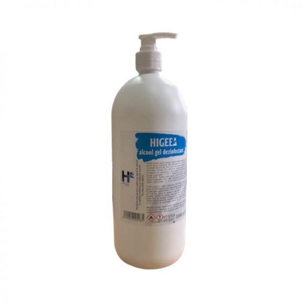 Gel dezinfectant pentru maini Higeea, cu pompita, alcool 70%, efect bactericid si virucid, 1000 ml