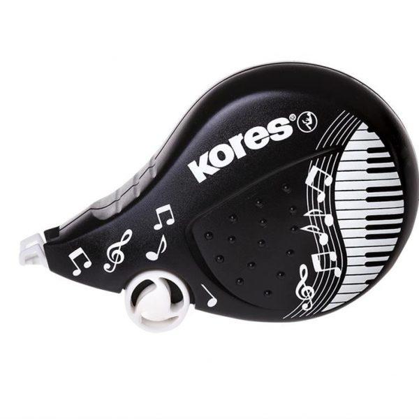 Banda corectoare Scooter Kores, 4.2mm x 8m Black&White