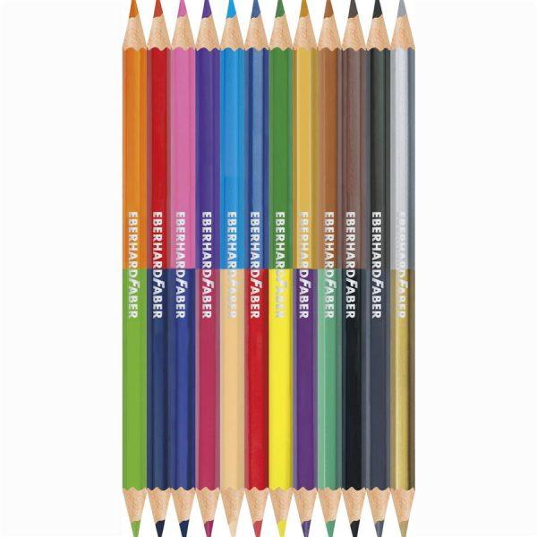 Creioane colorate bicolore 12x2 Eberhard Faber