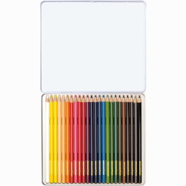 Creioane colorate 24 culori in cutie metal Eberhard Faber