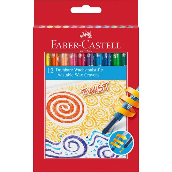 Creioane cerate Faber-Castell,retractabile