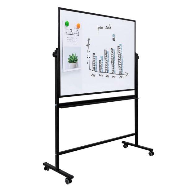 Whiteboard magnetic mobil 90x120cm, DELI