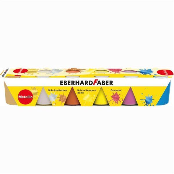 Guase pictura Eberhard Faber 6 culori 25 ml - culori metalizate