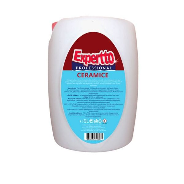 Detergent pentru pardoseli si suprafete ceramice, 5L, Expertto