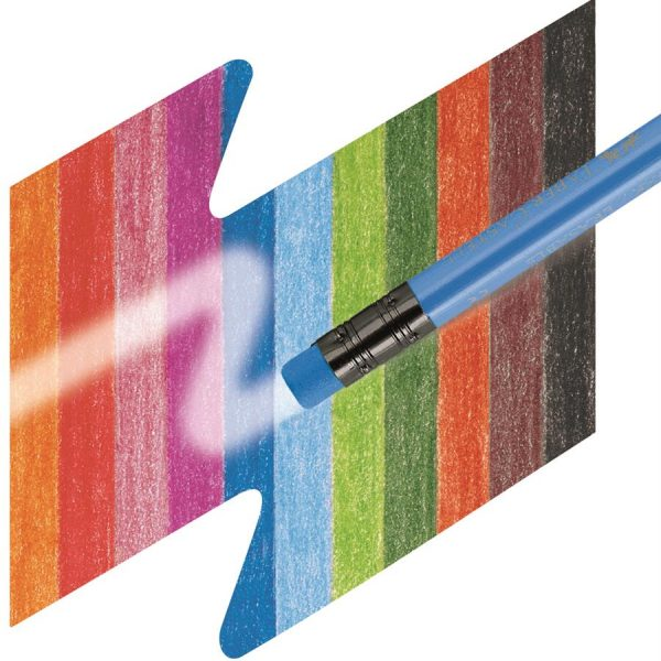 Creioane colorate 12 culori/set cu guma Eco Faber-Castell