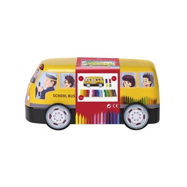 Carioca connector 33 culori/set, Autobuz Scolar Faber-Castell