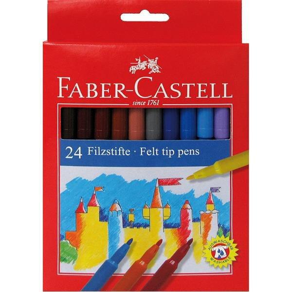 Carioci 24 culori/set, Faber-Castell