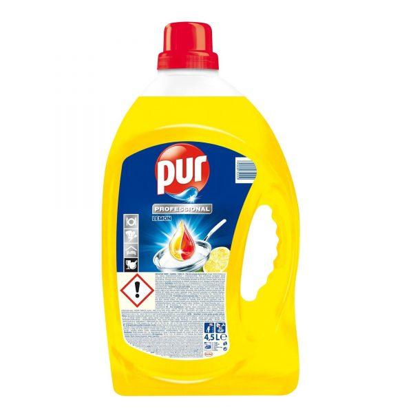 Detergent lichid vase Pur, 4.5 l , lemon