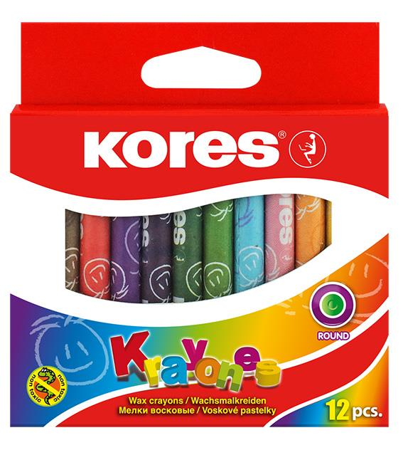Creioane cerate 12 culori/set Kores