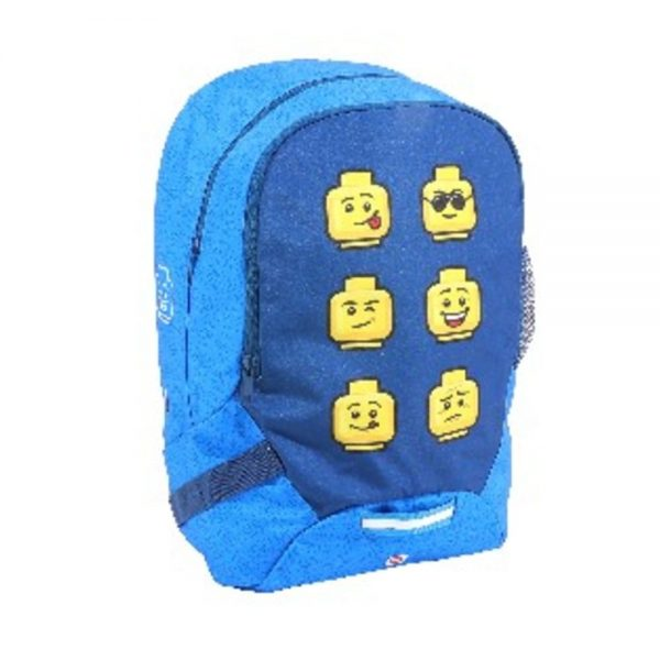 Rucsac gradinita LEGO V-Line - design Faces Blue