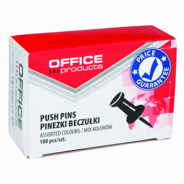 Pioneze panou pluta, 100 buc/cutie, Office Products