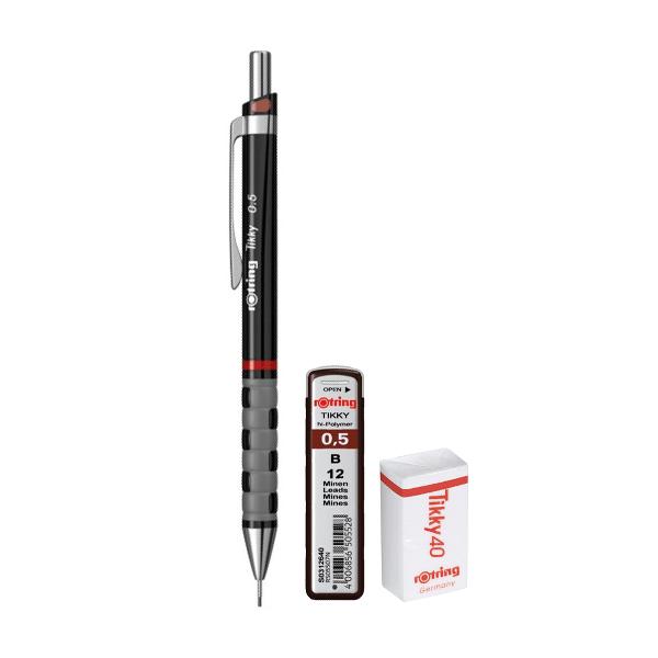 Set Rotring, creion mecanic Tikky III Original, 0.5 mm