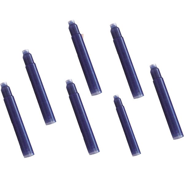 Patroane cerneala scurte, albastru, 50 bucati/set
