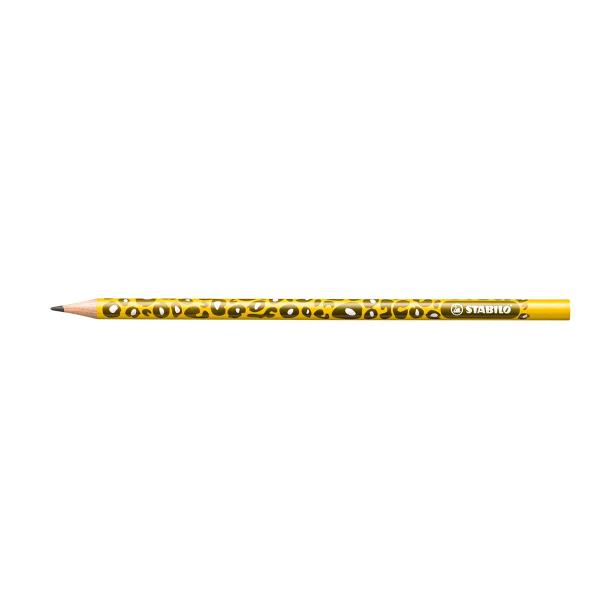 Creion Stabilo Be Wild, HB, corp galben/masliniu