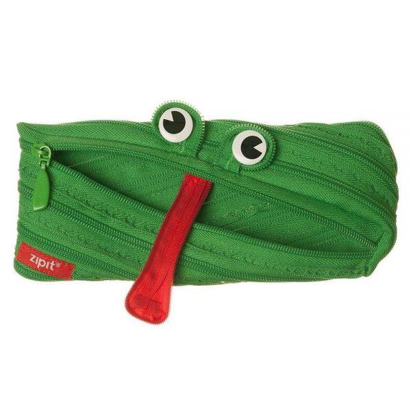 Penar cu fermoar, ZIPIT Animals - broasca - verde aprins