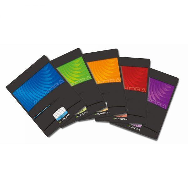 Caiet A5 36 file - 90g/mp,coperta carton lucios, AURORA Mano - matematica