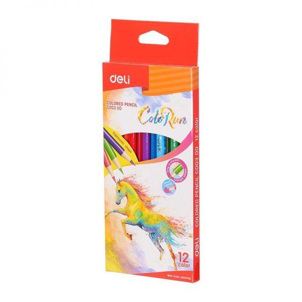 Creioane colorate 12 culori Deli Colorun