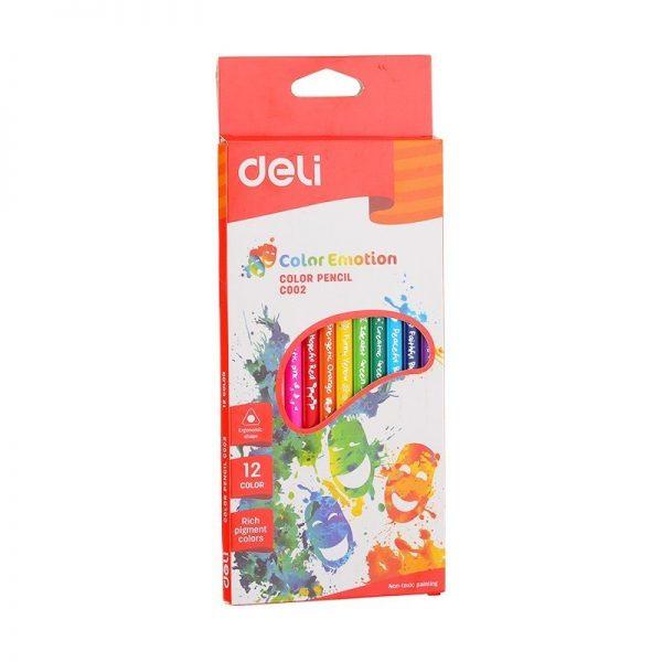 Creioane colorate 12 culori Deli Emotion