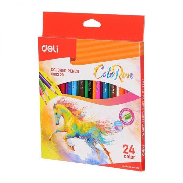 Creioane colorate 24 culori Deli Colorun