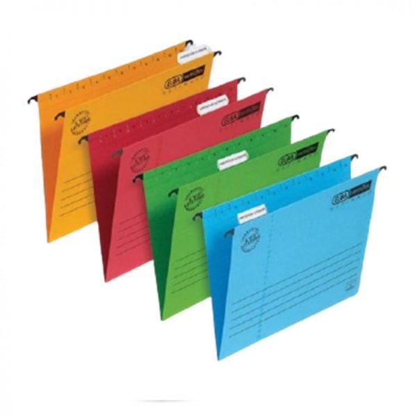 Dosar suspendabil cu eticheta, bagheta metalica, carton 330g/mp, ELBA Verticflex Ultimate