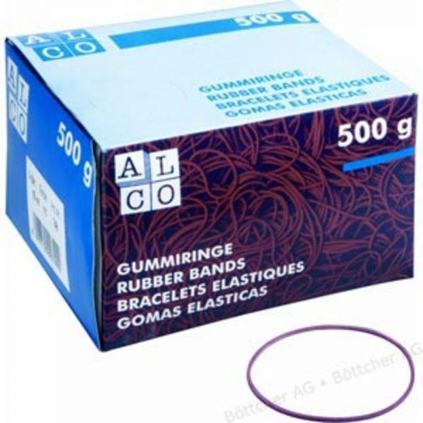 Elastice pentru bani, 500g/cutie, D130 x 10mm, ALCO