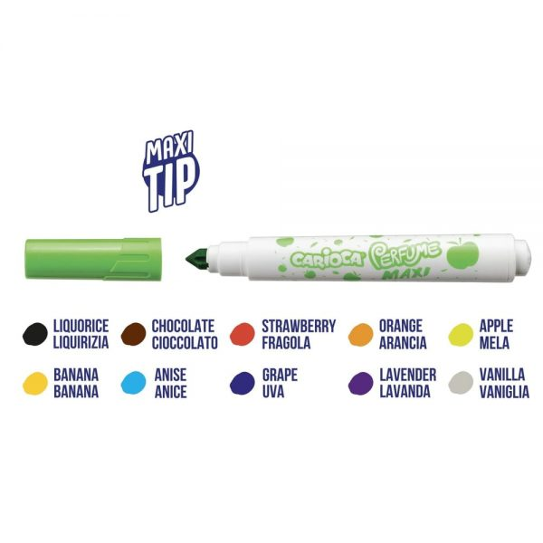 Markere cu stampila Carioca Perfume Stamps, 10 buc/cutie