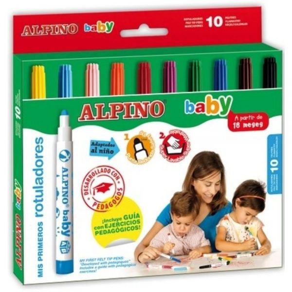 Carioci 10 culori/set, ALPINO Baby