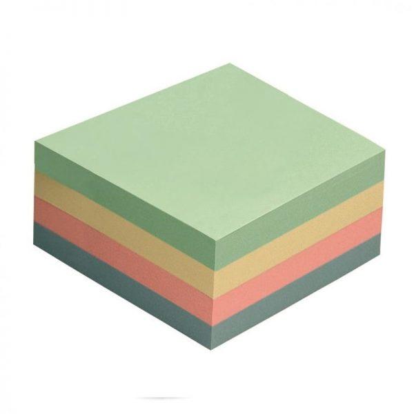 Cub notes adeziv 75 x 75 mm, 4 culori pastel, 400 file, Global Notes