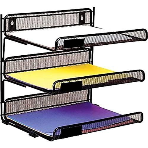 Suport metalic orizontal documente de perete 3 buc/set(tavite)