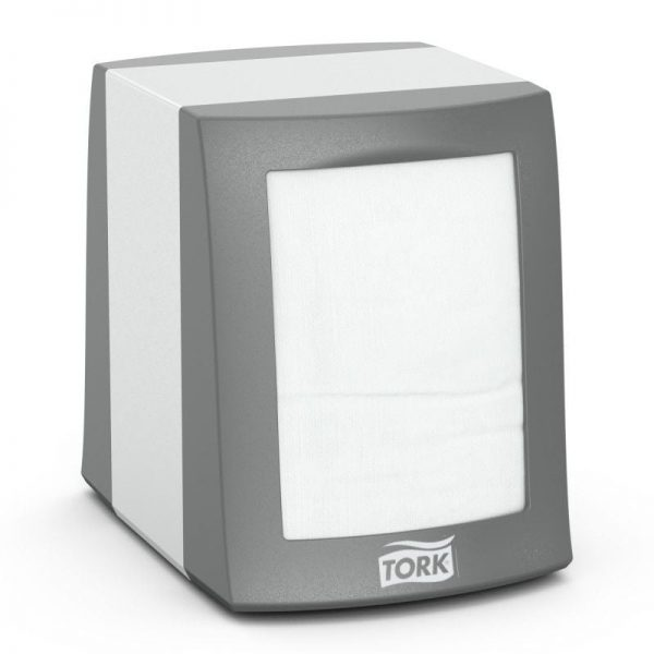Dispenser din metal pentru servetele de masa Counterfold, Tork 271800