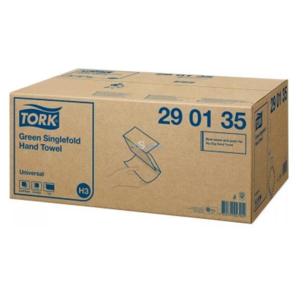 Prosoape pliate verzi Tork 290135, 2 straturi, 200 buc/pachet, 20 pachete/bax