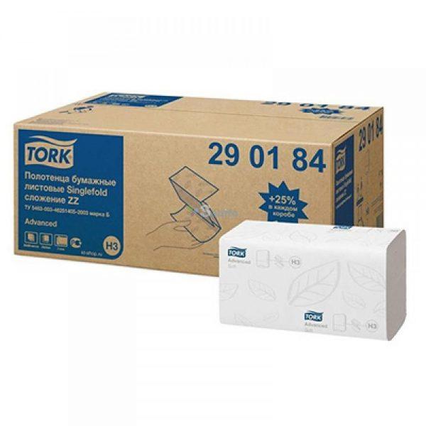 Prosoape pliate Tork H3 290184, 2 straturi, albe, 200 buc/pachet, 20 pachete/bax