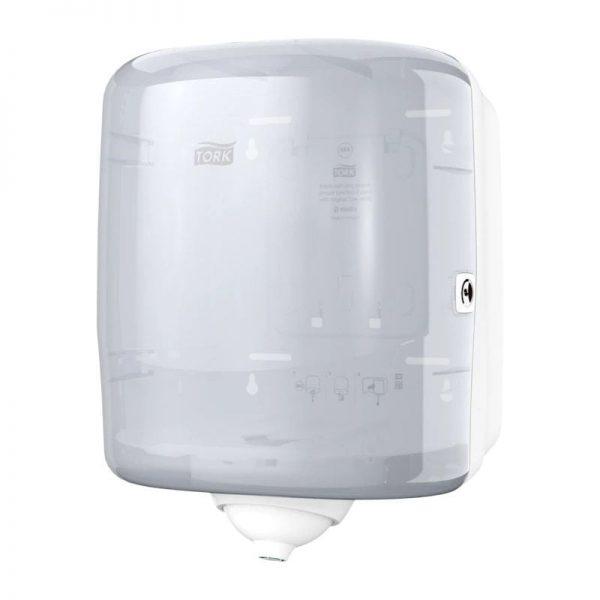 Dispenser din plastic pentru prosoape cu derulare centrala Reflex, alb, Tork 473190