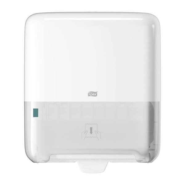 Dispenser din plastic, pentru prosoape Matic, alb, Tork 551000