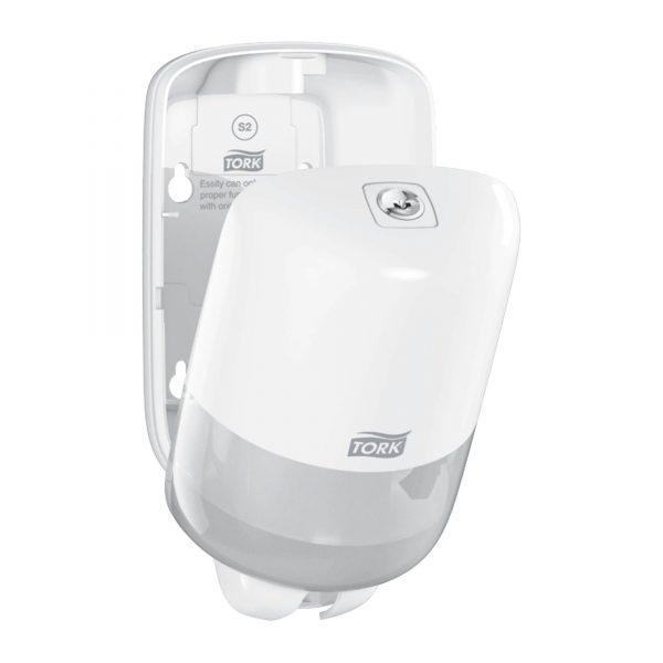 Dispenser din plastic alb pentru sapun lichid, 475ml, Tork 561000