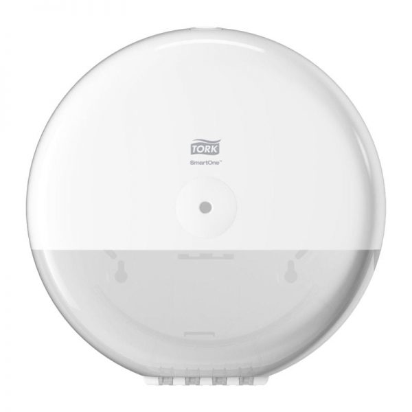 Dispenser din plastic pentru hartie igienica Smart One, alb, Tork 680000