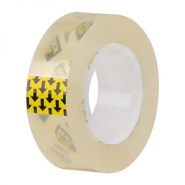 Banda adeziva transparenta,18 mm x 33 m, in cutie carton, Deli