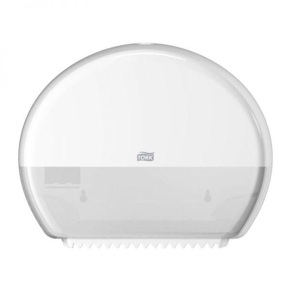 Dispenser din plastic pentru hartie igienica mini jumbo, Tork 555000/555008