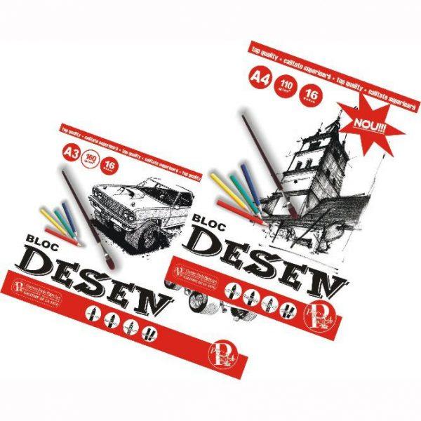 Bloc Desen A4 16 File, 110 g/mp, Pigna