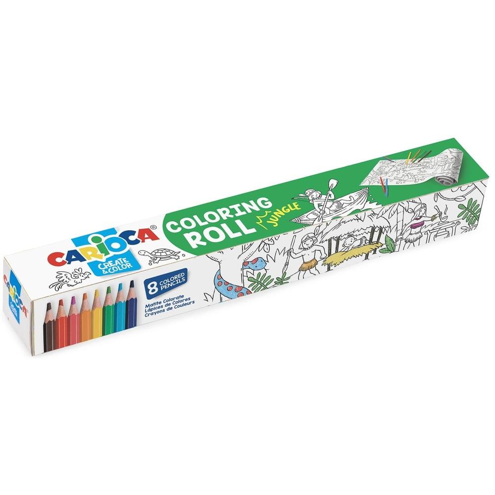 CARIOCA Coloring Roll, 30 x 198 cm/rola, hartie autoadeziva - Jungle