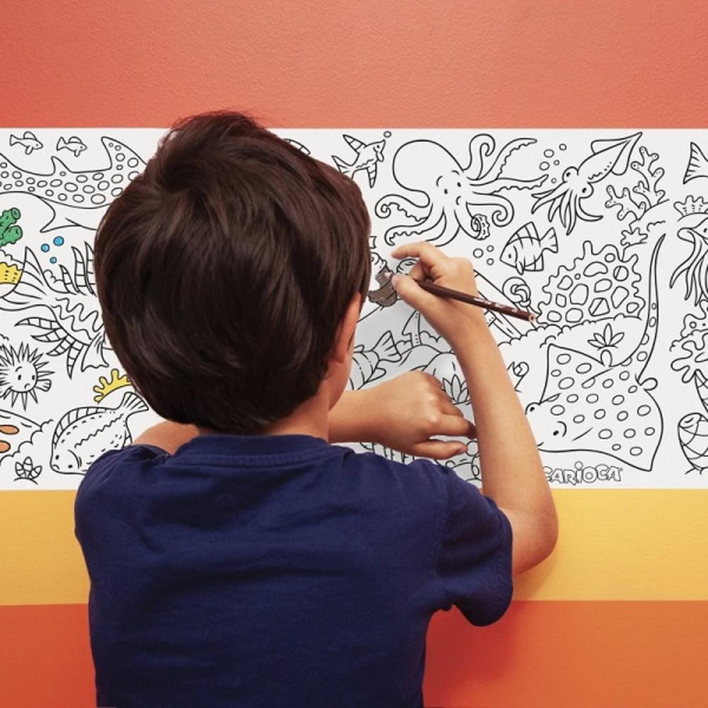 CARIOCA Coloring Roll, 30 x 198 cm/rola, hartie autoadeziva - Under The Sea