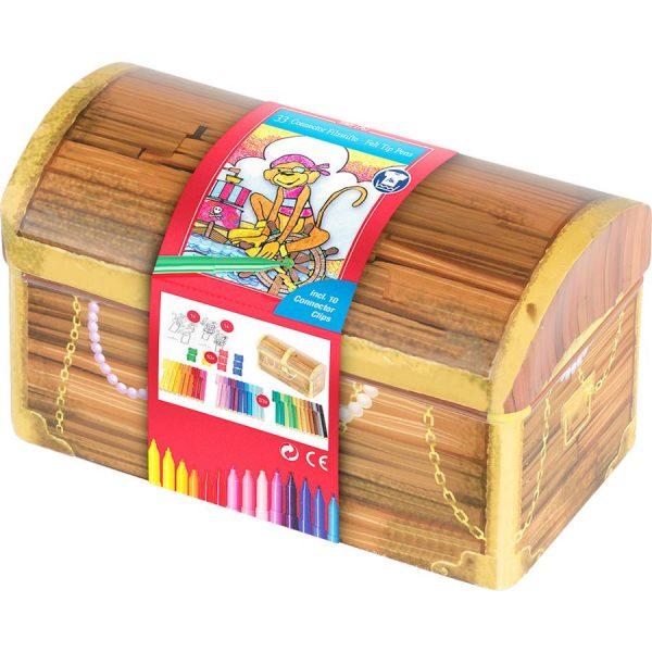 Carioci 33 culori lada comori Faber-Castell Connector